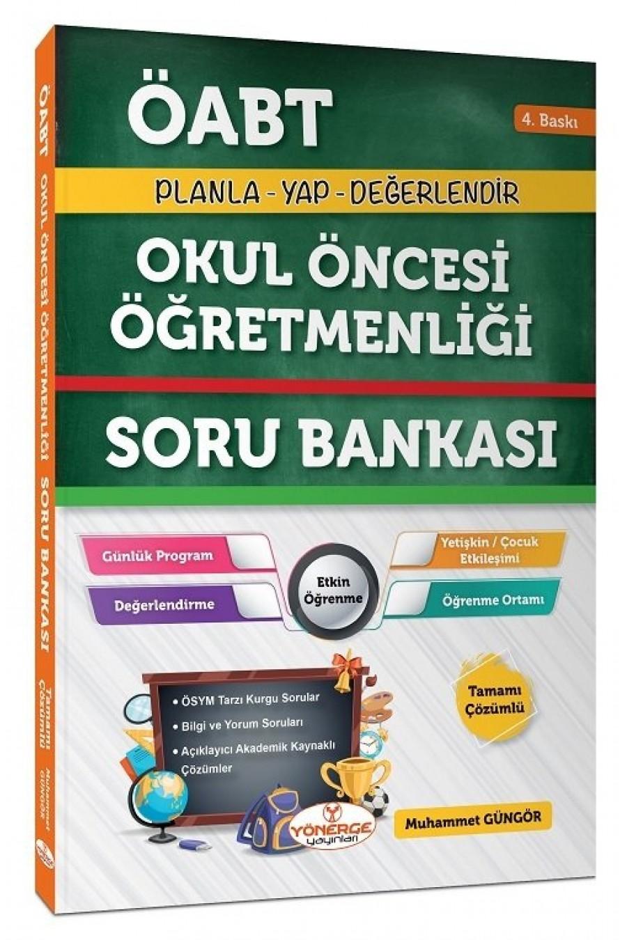 2021 ÖABT Okul Öncesi Öğretmenliği Soru Bankası Çözümlü - Muhammet Güngör Yönerge Yayınları