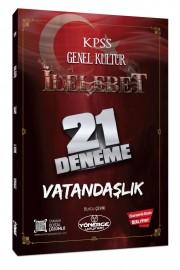 2021 KPSS Vatandaşlık İlelebet 21 Deneme Dijital Çözümlü - Burcu Çevik Yönerge Yayınları