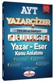 YKS AYT Türk Dili ve Edebiyatı Yazar Eser Yazarçizer Konu Anlatımı Yönerge Yayınları